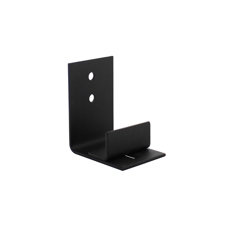 Verstelbare deurgeleider tbv onderzijde loftdeur, zwart